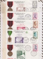 9/533 Premier Jour FDC 1959 HEROS DE LA RESISTANCE MOUTARDIER VEDY BRET LE ROUX MARTYRS Lot De 5 - FDC