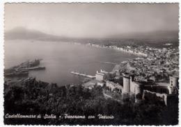 CASTELLAMARE DI STABIA - PANORAMA CON VESUVIO - 1952 - Castellammare Di Stabia
