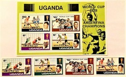 # Uganda 1978** Mi.183A-86A + Bl.11 Football World Cup, Argentina  , MNH  [20;6] - 1978 – Argentina