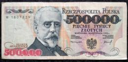 500 000 Zlotych 1993 POLAND POLEN POLOGNE Series Serie W - Polonia