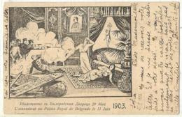 Serbia 1903 Assassination Of Obrenovich Royal Couple Bulgaria Issue Postcard D.13 - Königshäuser