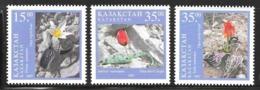 Kazakhstan 1997 Tulips Flowers Flora SC 197-9 Mi182-184 3 Stamps - Kazajstán
