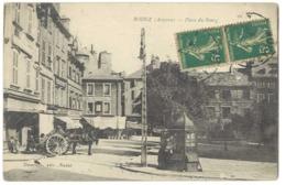 Cpa Rodez - Place Du Bourg ( Attelage, Kiosque ) - Rodez