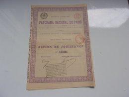 PANORAMA NATIONAL DE PARIS (1881) - Actions & Titres