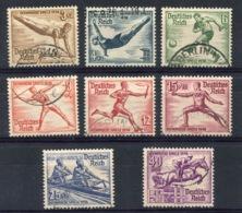 RC 14283 ALLEMAGNE REICH N° 565 / 572 JEUX OLYMPIQUES DE 1938 OBLITÉRÉS TB - Germany