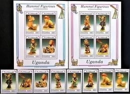 # Uganda 1992**Mi.1105-20 Hummel Figurines , MNH [20;31] - Porcelain