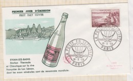 9/544 Premier Jour FDC 1959 EVIAN LES BAINS - 1950-1959