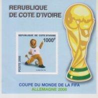 Côte D'Ivoire MNH Fifa Coupe Du Monde 2006 YT BF 39 Michel 1487 Ivory Coast Souvenir Sheet - Ivoorkust (1960-...)