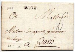 Aisne - LAC (datée Du 1er Août 1765) Marque LAON (Lenain 1) - Marcophilie (Lettres)