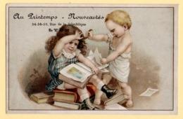 """Trade Card. Chromo. """"Au Printemps Nouveautés"""" à Lyon. Costumes Et Confections. La Dispute. - Andere"""