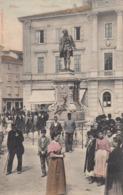 PIRAN-PIRANO-SLOVENIA-PIAZZA TARTINI-ANIMATISSIMA-CARTOLINA VIAGGIATA 1910-1920 - Slovenia