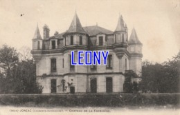 CPA De JONZAC    (17) -  CHATEAU De La FREMIGERE N° 3624 - 1904 - Jonzac