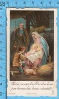Die Cut, Image Pieuse Chromo - Nativité , Adoration Du Berger Enfant- Gloria In Excelsis Déo - Devotion Images