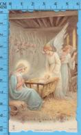 Die Cut , Image Pieuse - Anges, Nativité, Chromo , Gloria In Excelsis Deo - - Images Religieuses