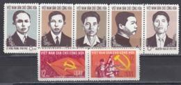 Vietnam Nord 1965 - 35th Anniversary Of The Communist Party Of Indochina, Mi-Nr. 347-53, MNH** - Vietnam