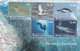2013 Ross Dependency Food Web Whales Birds Seals Miniature Sheet Of 5 MNH - Dépendance De Ross (Nouvelle Zélande)