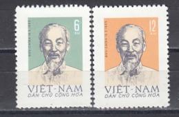 Vietnam Nord 1965 - 75th Birthday Of Ho Chi Minh, Mi-Nr. 363/64, MNH** - Vietnam