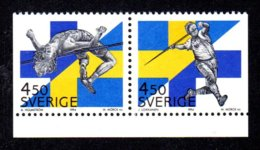SUEDE 1994 - YT 1828/1827 - Facit 1860/1859 - NEUFS ** LUXE/ MNH - 2 Valeurs - Compétition Sportive Finno-Suédoise - Neufs