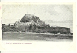 CORFOU / CITADELLE VUE DE L'ESPLANADE - Grèce