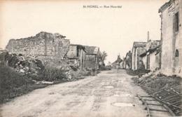 08 St Saint Morel Rue Hourdel Ruines Guerre 19114 1918 Ardennes - Francia