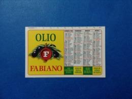 1996 CALENDARIETTO CALENDARIO OLIO FABIANO OLIO DI OLIVA - Calendari