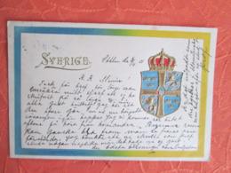 Sverige . Blason 1901  . Dos Superbe - Suède