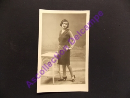 Carte Photo Famille Huguez Photographe Dakouny Av Des Francais Beyrouth - Genealogía