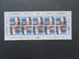 LETTONIE  -  Feuillets De 10   Des N° 387   Europa CEPT   Année  1996 Oblitérés 1er Jour    ( 3 ) - Lettonie