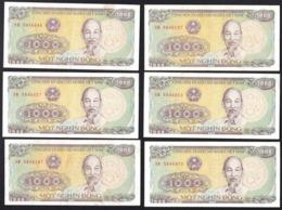 Small Collection Of X18 Vietnam Banknotes 500 & 1000 Vietnamese Shield (1988) - Vietnam