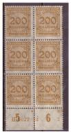 DR: 1923, 6x Nr. 323 Mit HAN, Postfrisch - Deutschland