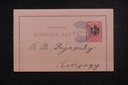 SERBIE - Entier Postal De Belgrade Voyagé En 1903 - 45519 - Serbie