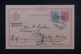 SERBIE - Entier Postal + Complément Pour L 'Alsace Lorraine ( Occupation Allemande) En 1898 - 45522 - Serbie