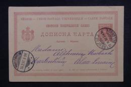 SERBIE - Entier Postal  De Belgrade Pour L 'Alsace Lorraine ( Occupation Allemande) En 1897 - 45523 - Serbie