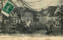 CORREZE  BEAULIEU  La Place Marbot Un Jour De Marché - France