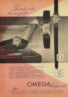 # OMEGA BIEL/BIENNE SUISSE HORLOGERIE 1950s Italy Advert Publicitè Reklame Orologio Montre Uhr Reloj Relojo Watch - Orologi Pubblicitari