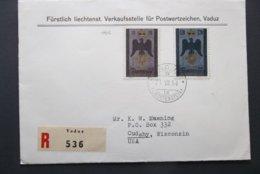 Liechtenstein: 1956 Rgt. Ca-FDC(?) To USA (#PU11) - Covers & Documents