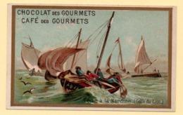 Trade Card. Chromo. Chocolat Et Café Des Gourmets. Pêche à La Sardine Dans Le Golfe Du Lion. - Altri