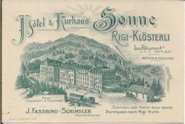 HOTEL ET KURHAUS SO9NNE RIGI KLOSTERLI LUFTKURORT - Pubblicitari