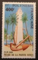 Polynésie Française: Yvert N° 302 (Phare De La Pointe Vénus, 1988) Neuf ** - Phares
