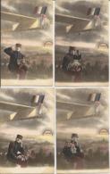 LOT De 4 Cartes Patriotiques - Guerre 1914-1918 - Oblitération De 1919 - Patriotiques