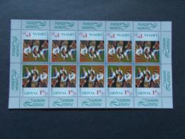 LITUANIE    -    Feuillets De 10  N°  580 Année 1998   Europa CEPT NEUFS XX     ( 2 ) - Lituanie