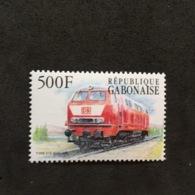 GABONESE REPUBLIC. MNH. TRAINS. 5R1004D - Eisenbahnen