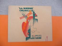 """24 Avril 1931 - SALLE BULLIER Paris  """" LA HORDE COLONIALE """" BAL """" ORGANISER Par Les Artistes Peintres Et Les Sculpteurs - Old Paper"""