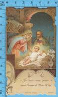 Die Cut , Image Pieuse - Nativité, Je Suis Venu Pour Vous Donner Le Pain De Vie - Devotion Images