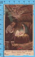 Die Cut , Image Pieuse - Nativité, Laetétur Caeli Et Exsultet Terra Ante Facem... - Devotion Images