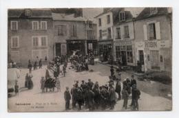 - CPA SANCERRE (18) - Place De La Halle 1917 - Le Marché (belle Animation) - - Sancerre