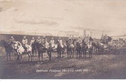 Deutsche Feldpost Rückt Aus  Carte Photo Allemande - War 1914-18