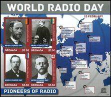 GRENADE Pionniers De La Radio 4v (1321) 2013 Neuf ** MNH - Grenada (1974-...)