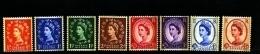 GREAT BRITAIN - 1960  PHOSPHOR-GRAPHITE'S  SET  8  VALUES  MINT NH - Unused Stamps