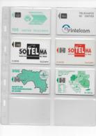 6 Cartes Afrique Djibouti Cameroun Mali Guinée Gabon - Telefonkarten